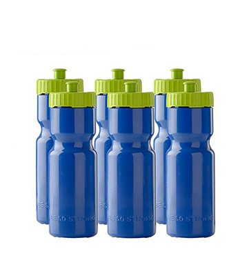 2 Pack Sports Squeeze Water Bottle Bpa Free Easy Open Push//Pull Cap 22 Ounce US