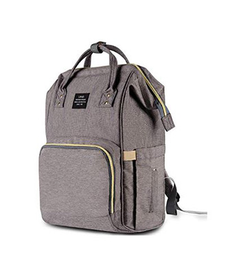 f3fbc6592098 HaloVa Diaper Bag Multi-Function Waterproof Travel Backpack Nappy Bags for  Baby Care, Large Capacity, Stylish and Durable, Gray