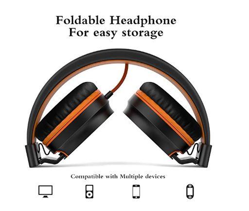 Elecder i36 Kids Headphones Children Girls Boys Teens Foldable Adjustable On Ear Headsets 3.5mm Jack Compatible iPad Cellphones Computer Kindle MP3//4 Airplane School Tablet Purple//Red