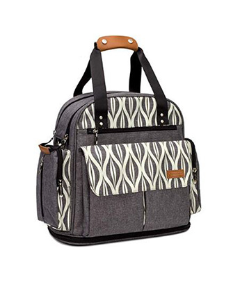 ef0eb260ac2 Lekebaby Expandable Diaper Bag Backpack Tote Messenger Bag for Mom and Girl  in Grey