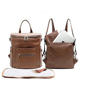 Leather Diaper Bag Backpack MF Store Diaper bag