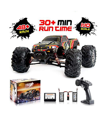1:10 Scale Large Remote Control Car 48km/h+ Speed | Boys 4x4 Off Road  Monster Truck Electric RC Cars | All Terrain Waterproof Toys Trucks for  Kids and