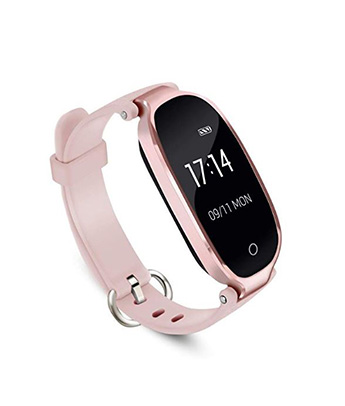 Fitness Tracker,Women Smart Fitness Watch, Heart Rate Monitor Smart  Bracelet IP67 Waterproof Smart Bracelet with Health Sleep Activity Tracker
