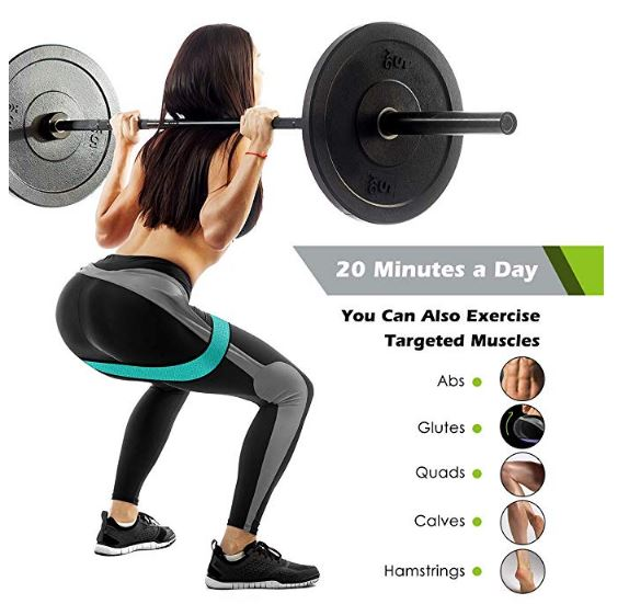 Fabric Exercise Resistance Bands for Legs and Butt-Perfect Activate Glutes  and Thighs - Hip Loop Bands Circle, Non-Rolling Thick Wide Workout