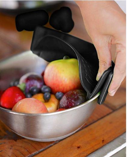 Silicone Food Strainer Black BAYI