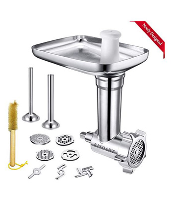Metal Food Meat Grinder Attachments for KitchenAid Stand Mixers, KITOART  Meat Grinder Attachment Compatible with KitchenAid Stand Mixers, including  ...